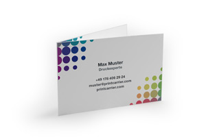 Business Cards with Scoring Fold
